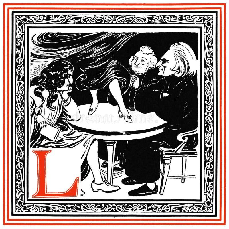 La L è La Fontaine immagine stock libera da diritti