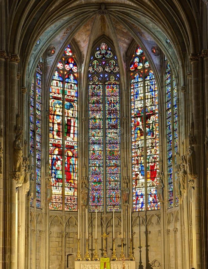 La La de dans de Saint Nazaire de Basilique de La citent De Carcassonne - Aude et x28 ; France& x29 ; photos stock