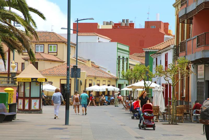 LA LAGUNA, ESPAGNE DE SAN CRISTOBAL DE - 5 JUIN 2019 : rue principale de La Laguna, Espagne photos libres de droits