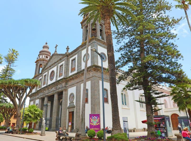LA LAGUNA, SPAGNA DI SAN CRISTOBAL DE - 5 GIUGNO 2019: Cattedrale di San Cristobal de la Laguna, isola di Tenerife, Spagna fotografie stock libere da diritti