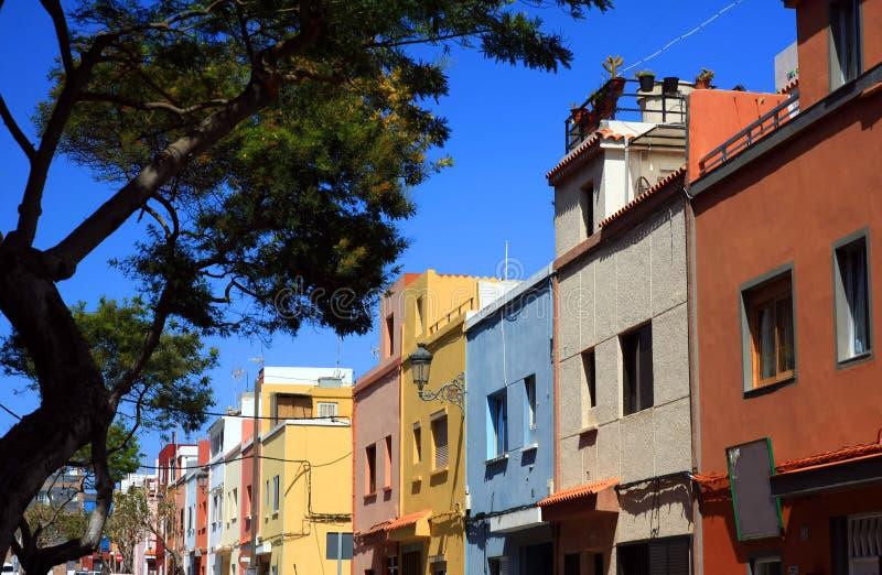 La Laguna in Tenerife, isnalds color giallo canarino, Spagna fotografia stock libera da diritti