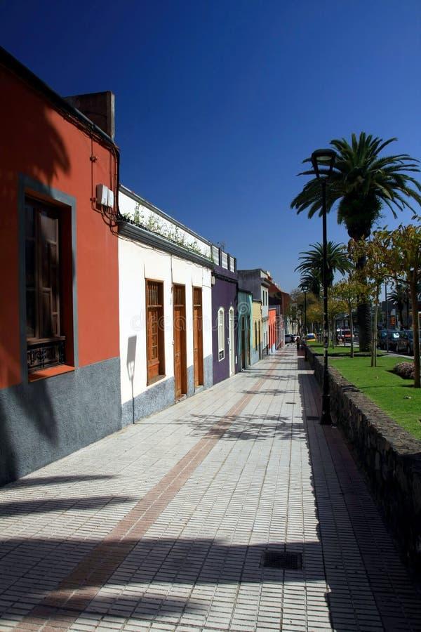 La Laguna in Tenerife, isnalds color giallo canarino, Spagna immagini stock libere da diritti