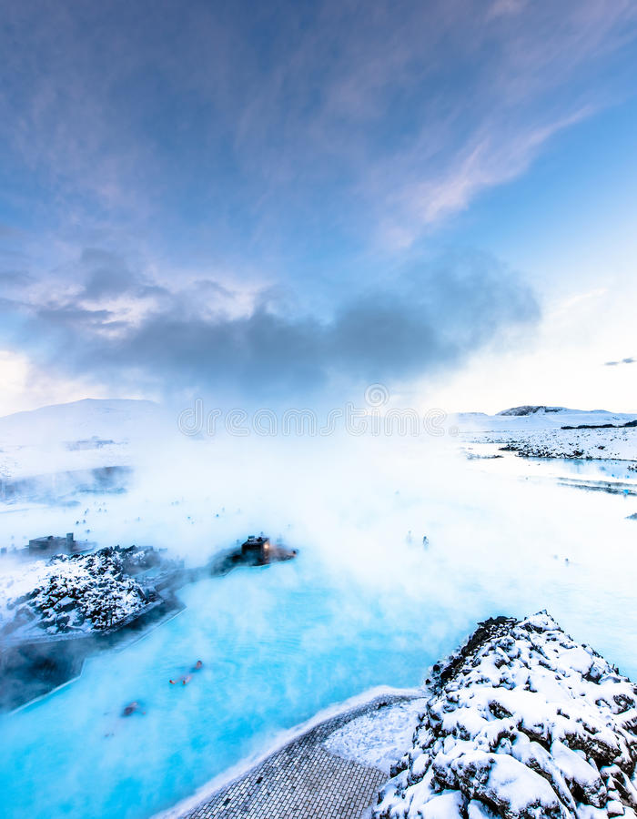 La lagune bleue célèbre près de Reykjavik, Islande photographie stock