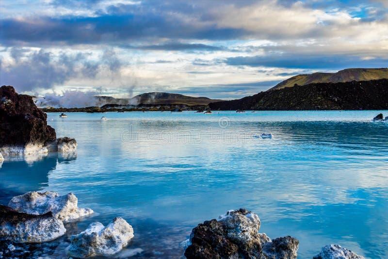 La lagune bleue dans Grindavik, péninsule de Reykjanes en Islande images stock