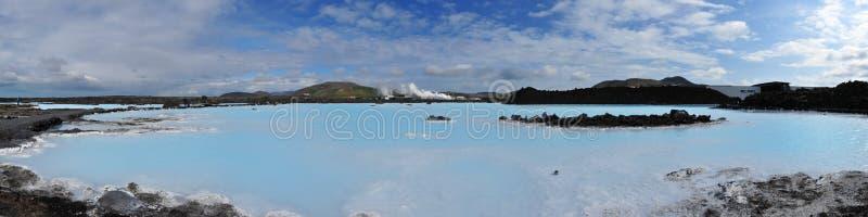 La lagune bleue sur l'Islande en mois de Juli image stock