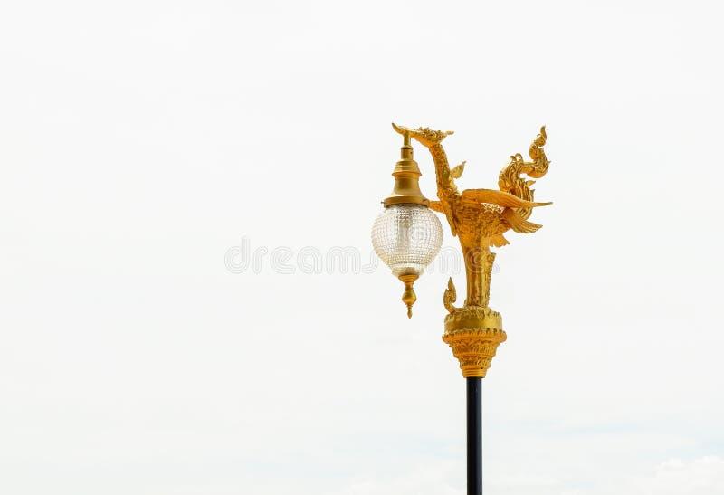 La lampada dorata del cigno fotografia stock
