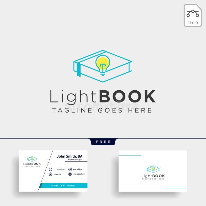 La lampadina che impara la linea elemento dell'icona dell'illustrazione di vettore del modello di logo ha isolato immagini stock