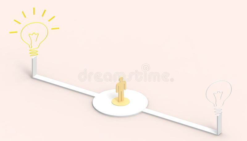 La lampadina e la strada di idea creativa hanno pensato lo stile di arte di affari di ispirazione di concetto ed il fondo della p royalty illustrazione gratis