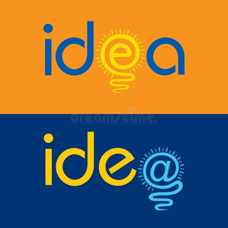 La lampadina fa il concetto del testo di idea royalty illustrazione gratis