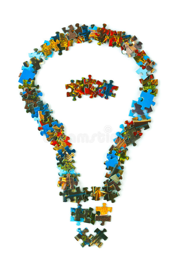 la lampe a effectué le puzzle photographie stock libre de droits