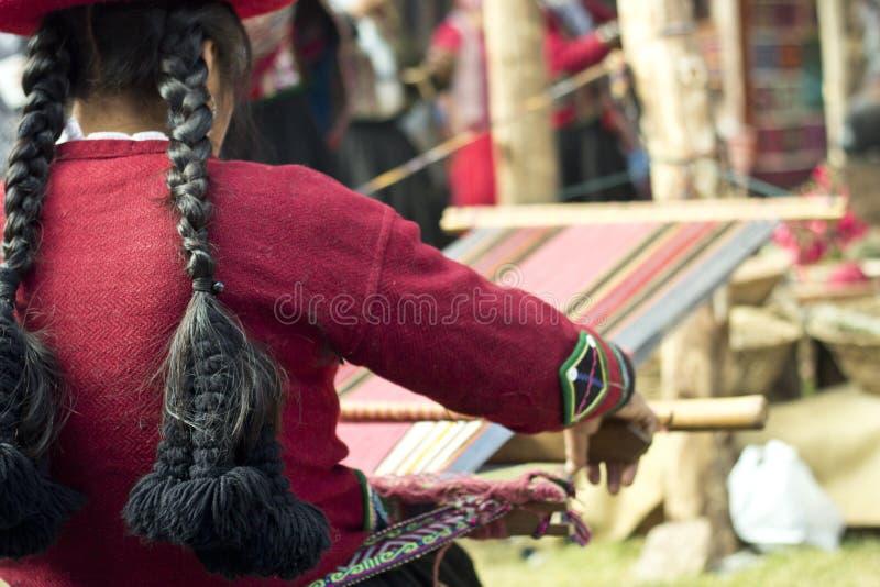 La lana casalinga copre l'industria fotografie stock