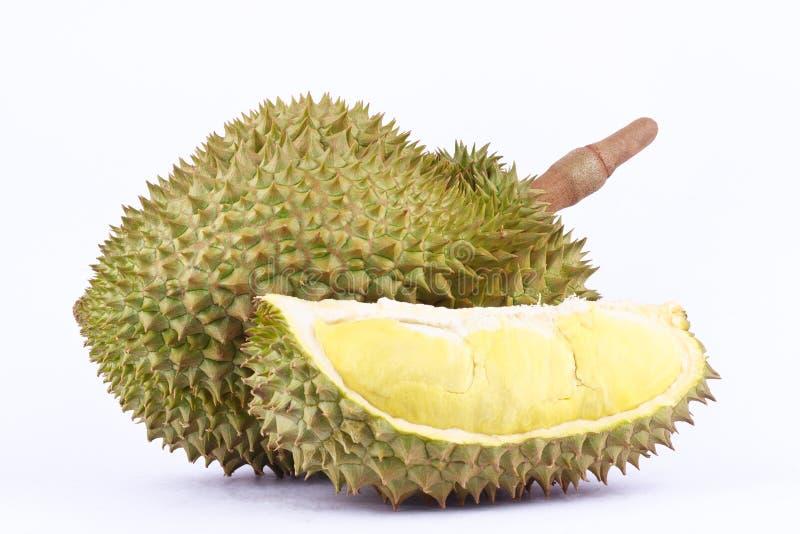 La lanière de lundi de durian est roi de durian de fruits sur la nourriture saine fraîche de fruit de durian de fond blanc photographie stock