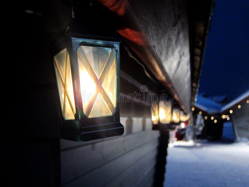 La Laponie, juste, lanterne photos stock