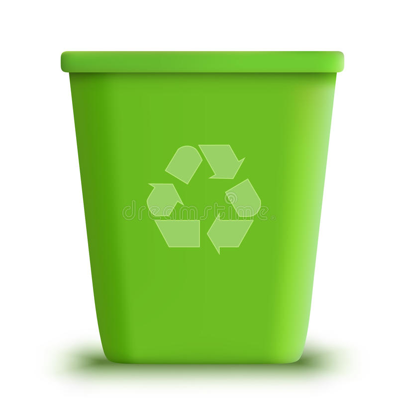 La latta di immondizia di vettore ricicla illustrazione di stock