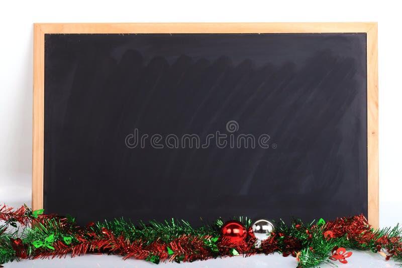 La lavagna ha decorato il giorno di Buon Natale fotografia stock