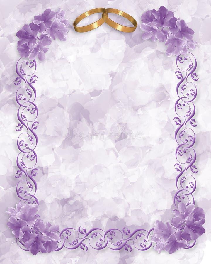 La lavande fleurit la carte de mariage illustration stock