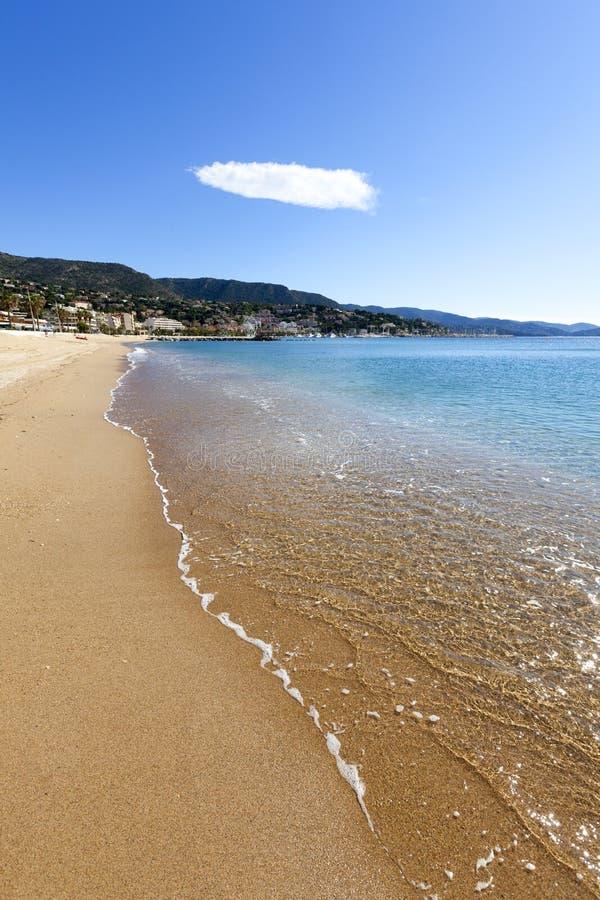 La Lavandou beach stock image