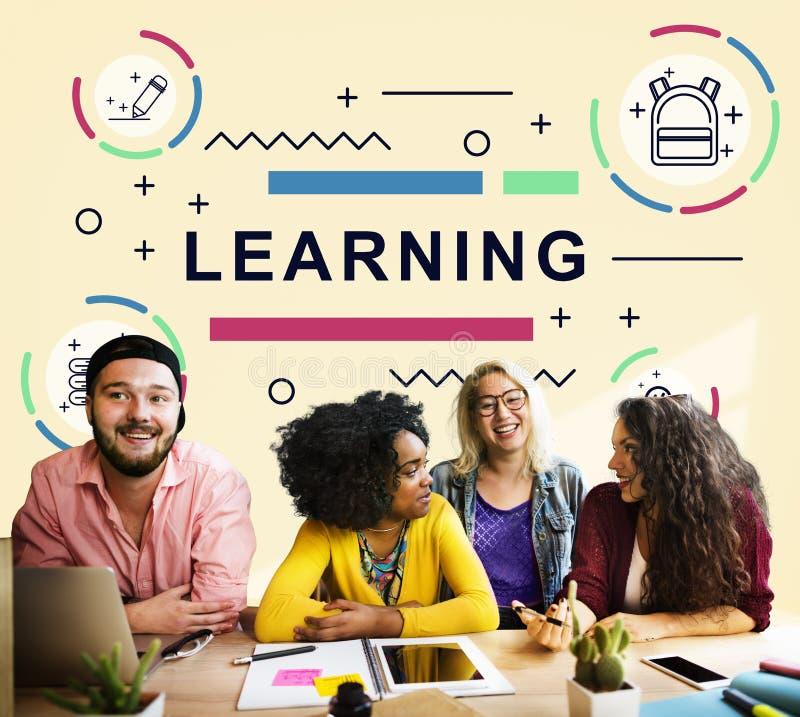 La lección de la educación aprende al estudiante Concept del estudio foto de archivo libre de regalías