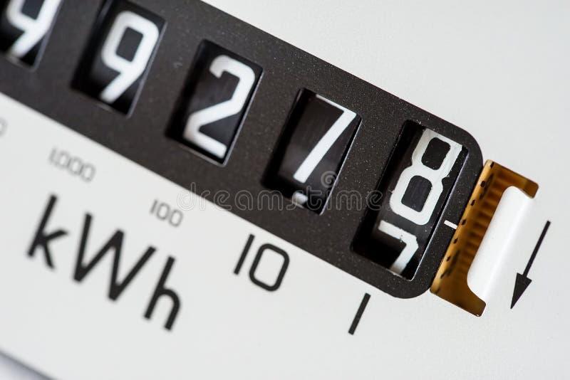 La lectura de la electricidad numera el primer fotos de archivo libres de regalías