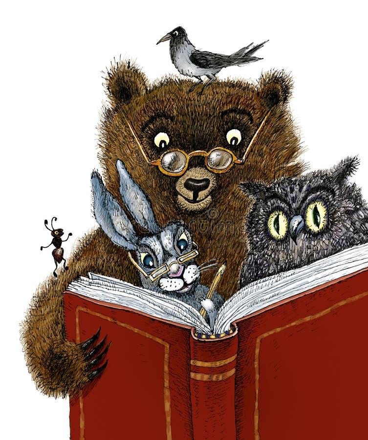 La lectura no es dañina. La lectura es stock de ilustración