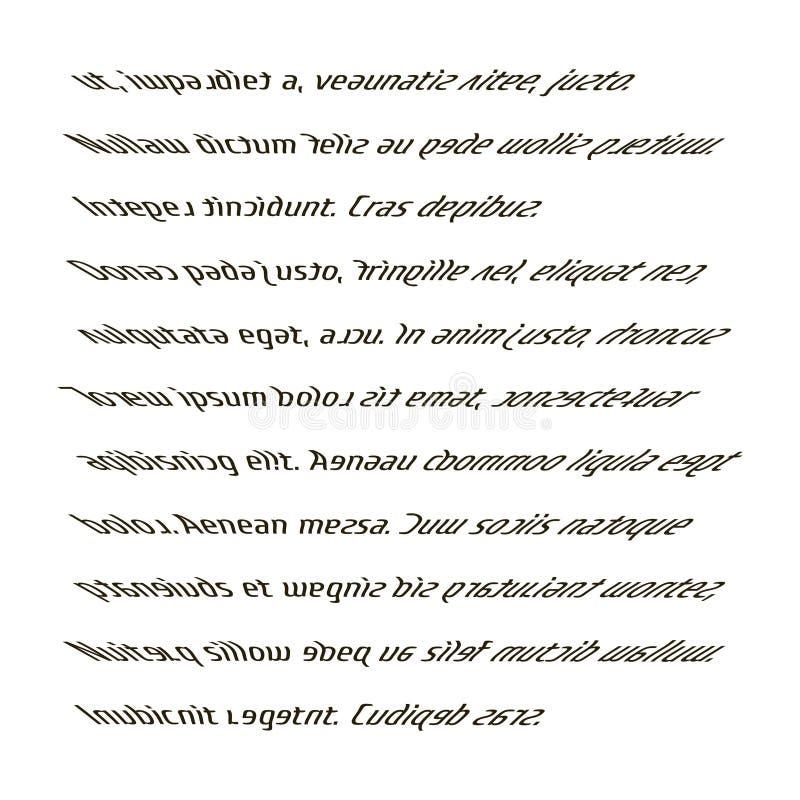 La lecture d'une personne avec la dyslexie Le texte imprimé trouble illustration stock