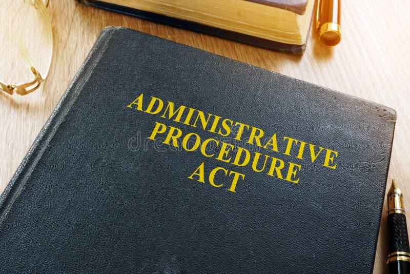 La Legge APA di procedimento amministrativo immagine stock