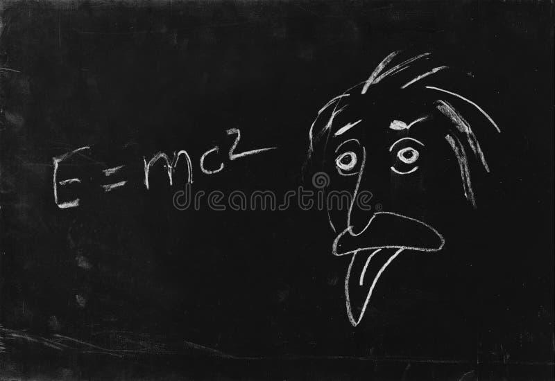 La lengüeta de la demostración del genio. stock de ilustración
