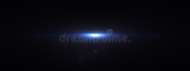 La lente óptica de las luces señala por medio de luces brillante imagen de archivo libre de regalías