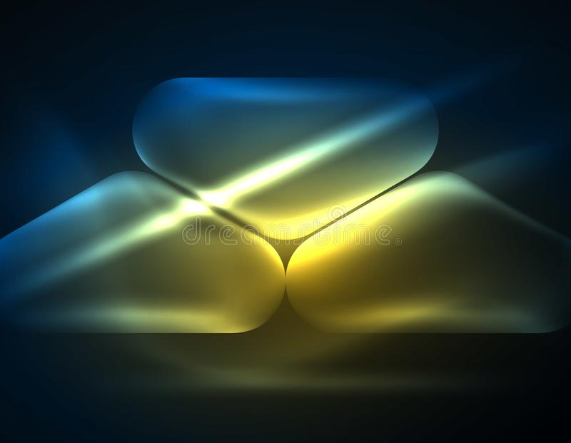 La lente illuminata si svasa, fondo techno d'ardore di colore royalty illustrazione gratis