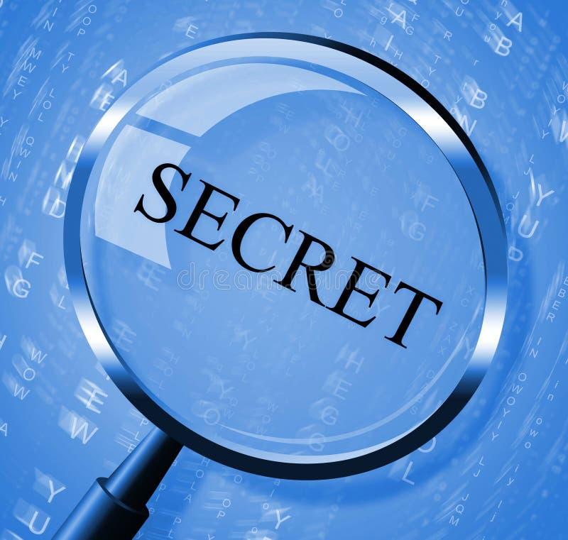 La lente segreta mostra discreto nascosto e cerca royalty illustrazione gratis