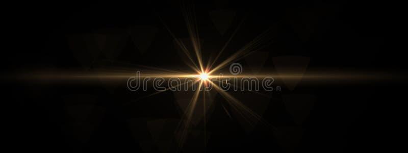La lentille optique de lumières évase brillant images libres de droits