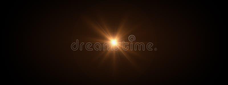 La lentille optique de lumières évase brillant photos stock