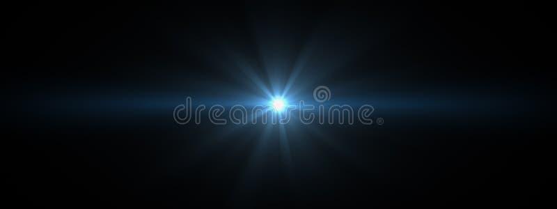 La lentille optique de lumières évase brillant photographie stock libre de droits