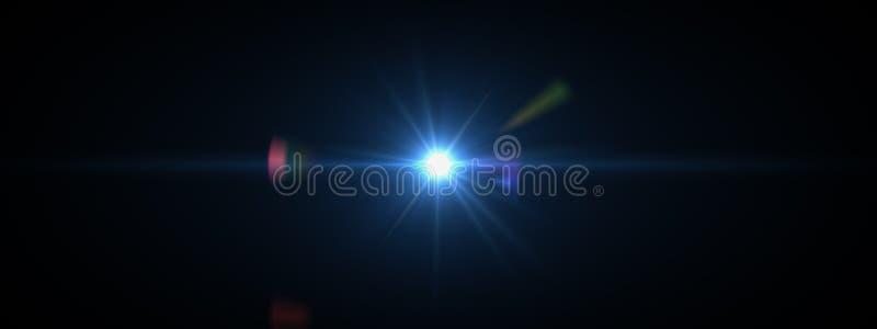La lentille optique de lumières évase brillant photographie stock