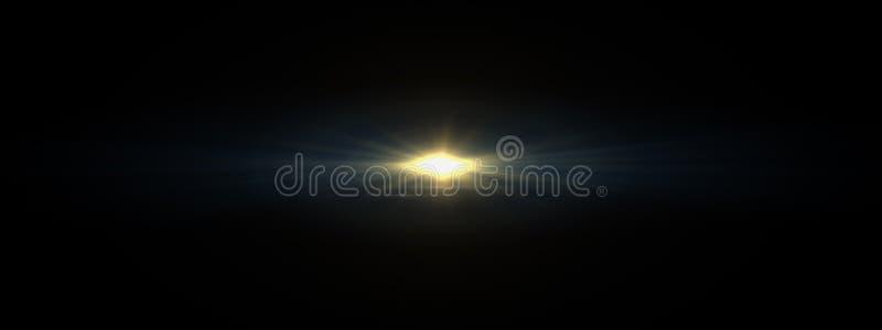 La lentille optique de lumières évase brillant photo stock