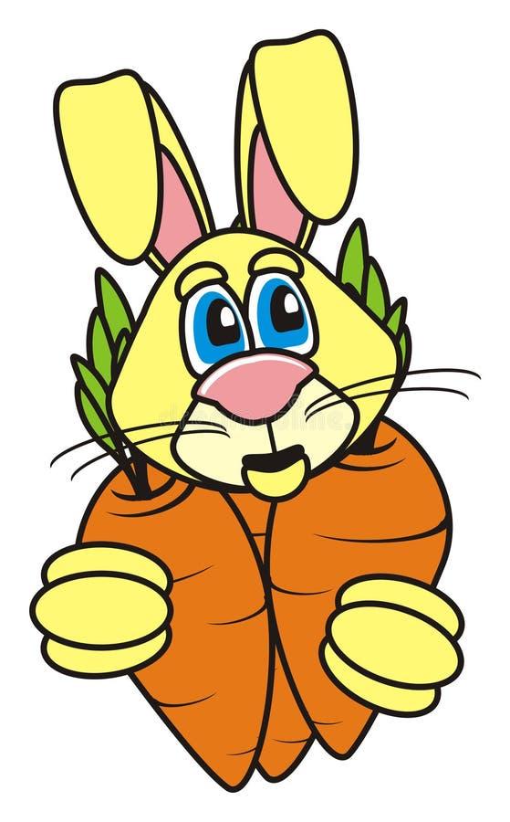La lepre tiene la carota illustrazione vettoriale