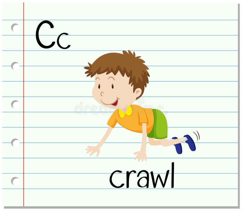 La letra C de Flashcard está para el arrastre libre illustration