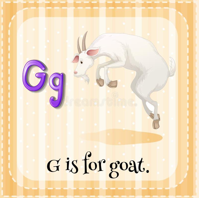 La letra G de Flashcard está para la cabra libre illustration