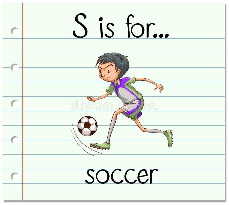 La letra S de Flashcard está para el fútbol libre illustration