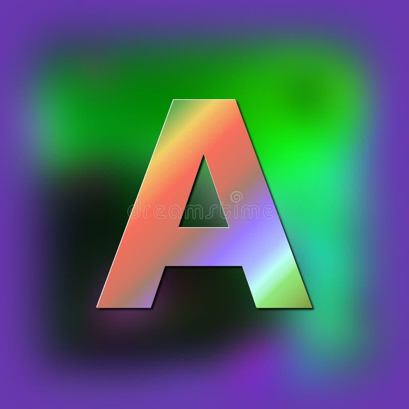 La lettera A è disposta sulla struttura royalty illustrazione gratis