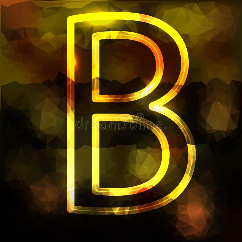 La lettera b è un grande capitale su un triangolare illustrazione di stock