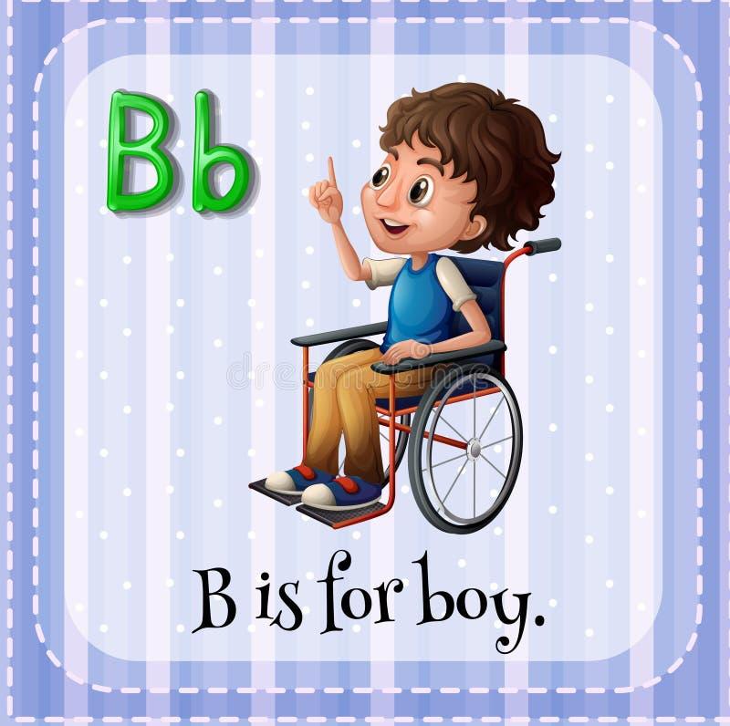 La lettera B di Flashcard è per il ragazzo royalty illustrazione gratis