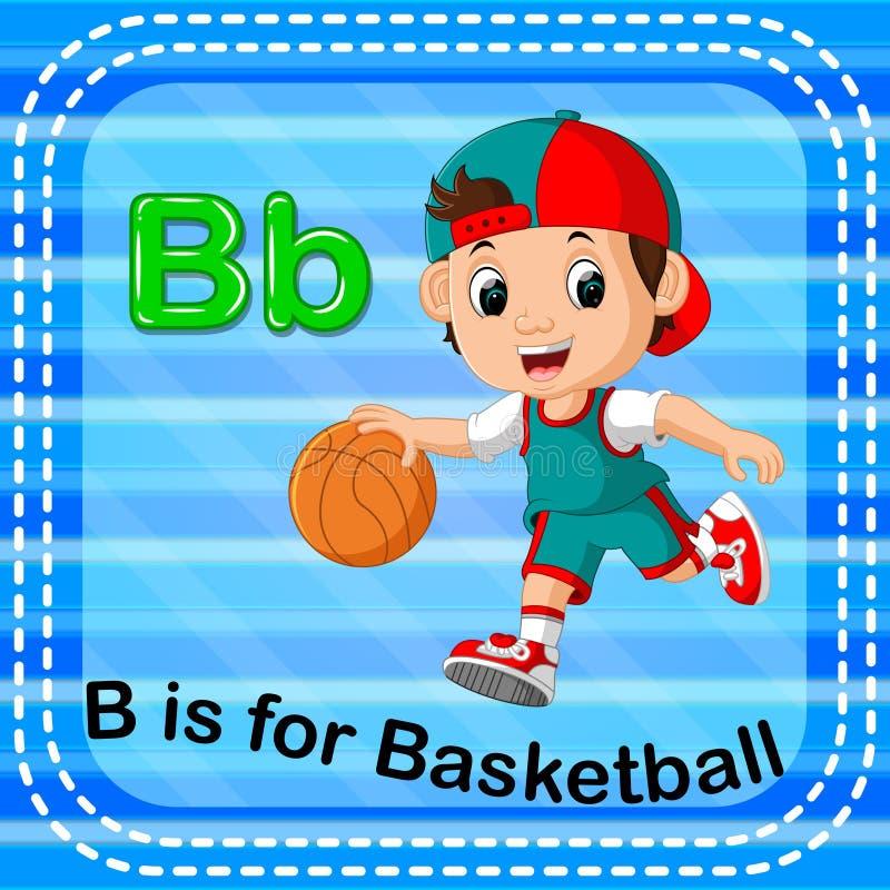 La lettera B di Flashcard è per pallacanestro illustrazione di stock