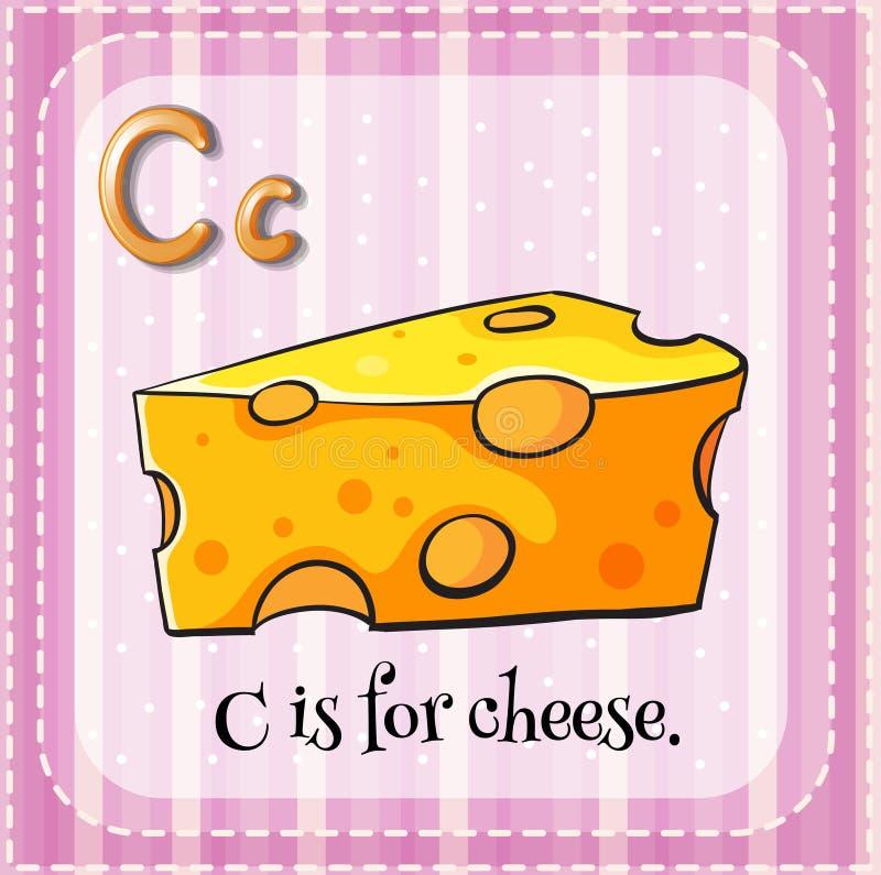 La lettera C di Flashcard è per formaggio royalty illustrazione gratis