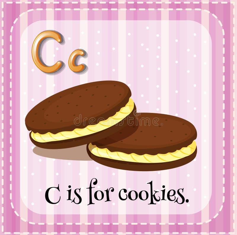 La lettera C di Flashcard è per i biscotti royalty illustrazione gratis
