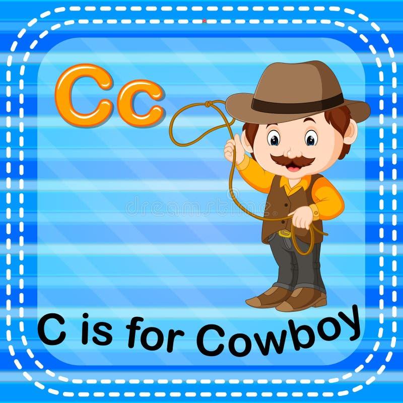 La lettera C di Flashcard è per il cowboy royalty illustrazione gratis