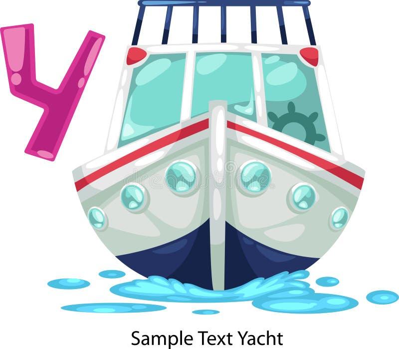 La lettera di alfabeto dell'illustrazione y-yacht royalty illustrazione gratis