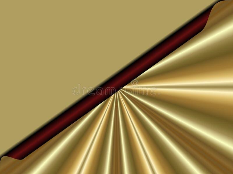 La lettera dorata gradisce il fondo di Natale illustrazione di stock