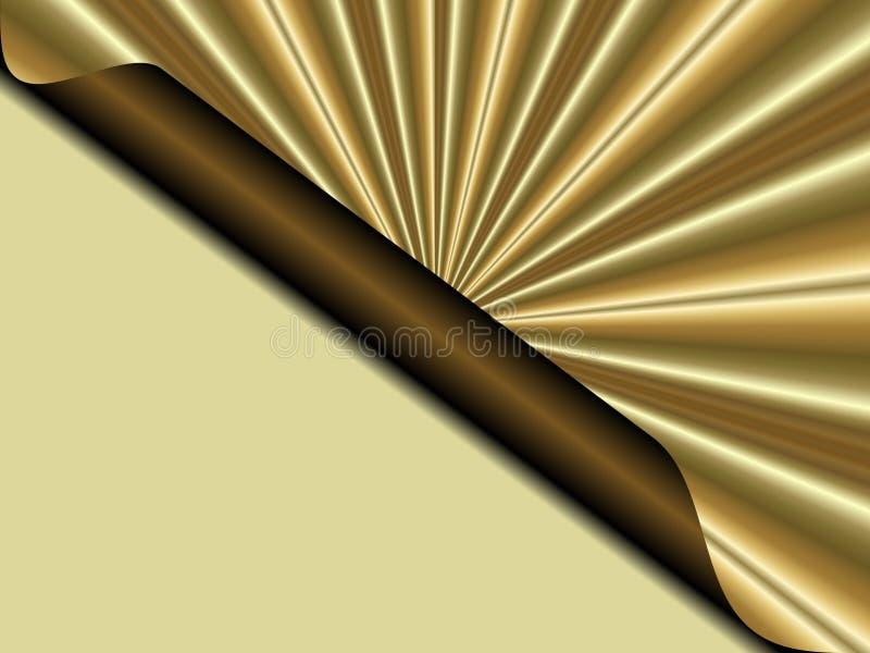 La lettera dorata gradisce il fondo di Natale e struttura royalty illustrazione gratis