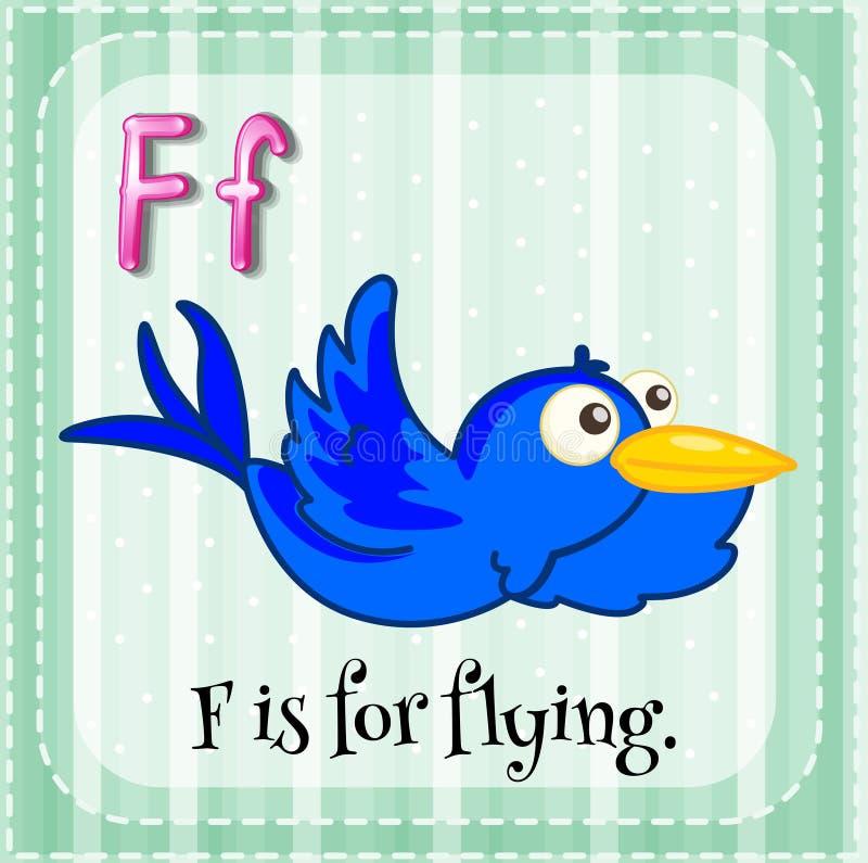 La lettera F di Flashcard è per volare illustrazione vettoriale